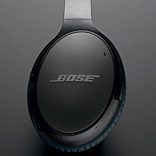 Bose QuietComfort 25 - Auriculares de diadema cerrados (con cancelación de ruido, con cable, versión Apple), color negro