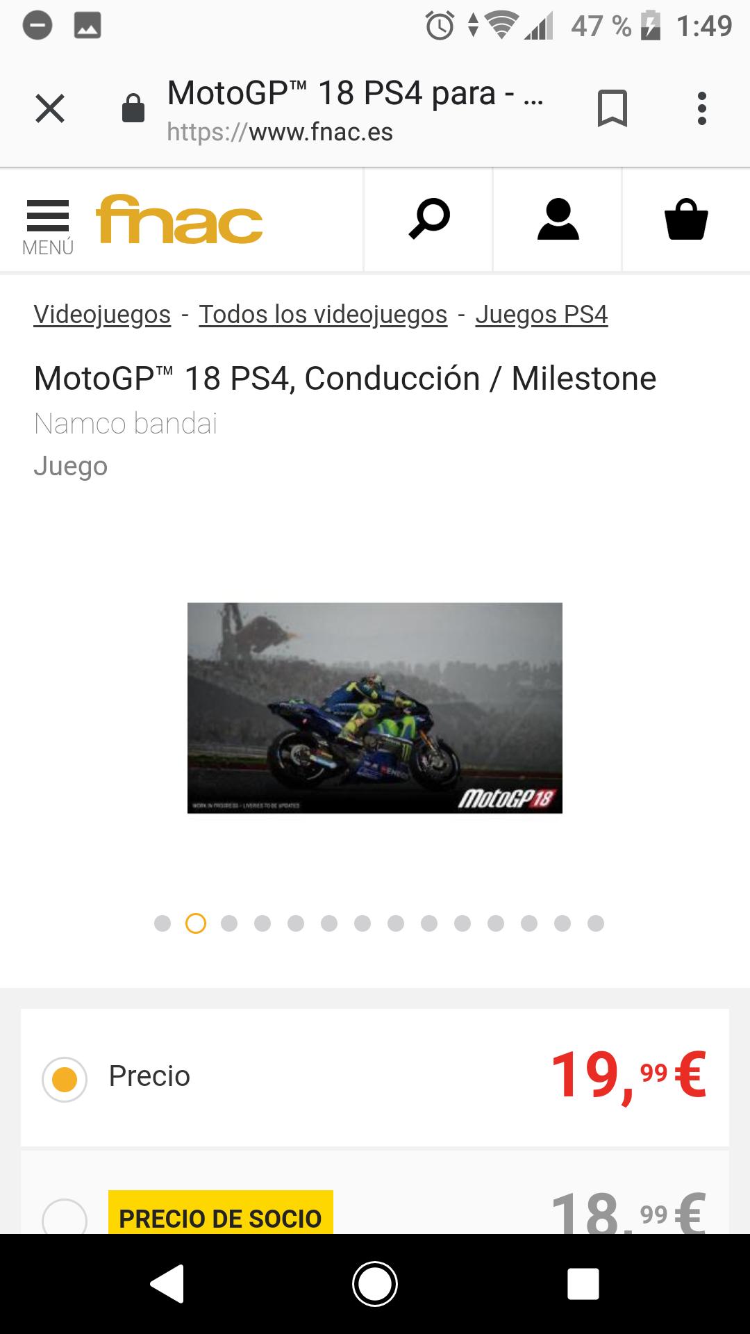 MotoGP™ 18 PS4, Conducción / Milestone