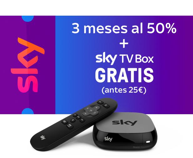 SKY TV 3 MESES AL 50% + SKY TV BOX GRATIS