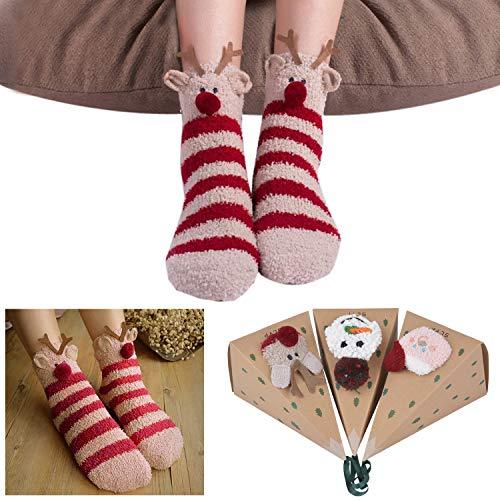 3 Pares de calcetines navideños de Mujer