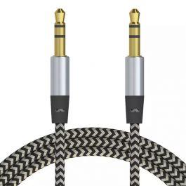2 cables trenzados de 3.5 macho a macho