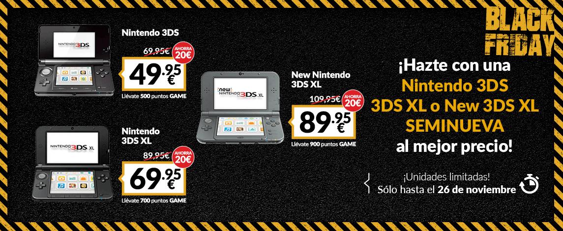 Varios modelos 3ds /3ds XL desde 49,95€/69,95€ SEMINUEVOS