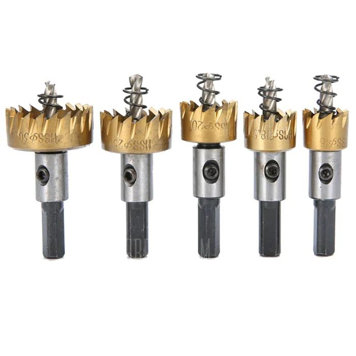 Sierras de taladro cortador de dientes Broca 5pcs - ORO