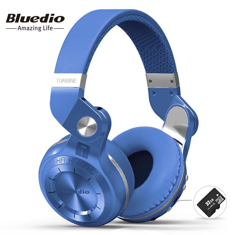 Bluedio T2 + moda plegable sobre el oído auriculares bluetooth BT 4,1