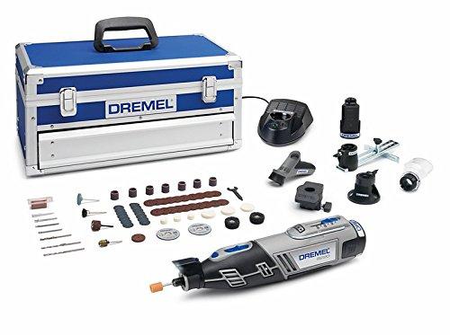 Multiherramienta inalámbrica DREMEL  (12 V, 1.5 Ah, 65 accesorios, 5 complementos, cargador, maletín de aluminio)