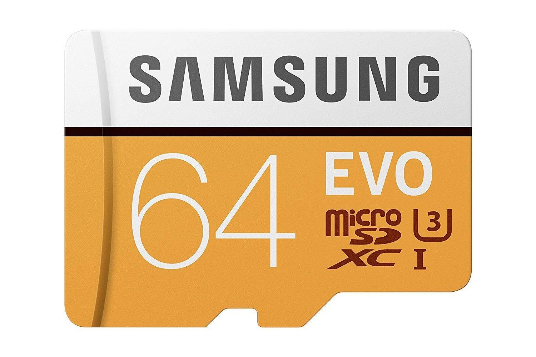 Micro SD 64GB Samsung EVO Clase 10 a solo 7.44
