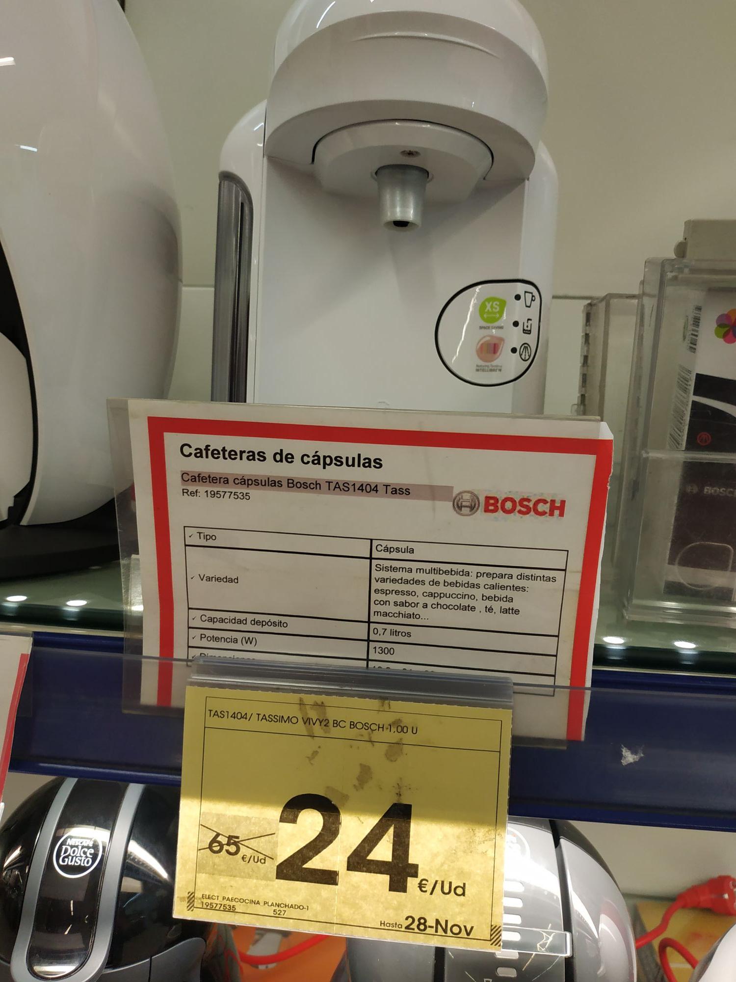 Cafetera cápsulas Bosch Tassimo Vivy
