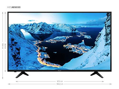 """Hisense H65AE6030 - Smart TV de 65"""" (4K, HDR, VIDAA U) Color Negro"""