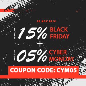 Cyber Monday Extra 5% de descuento: CYM05