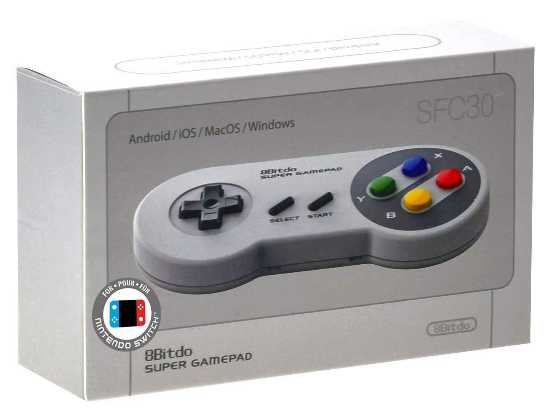 Mando Super Nintendo Colores Bluetooth SFC30 8Bitdo