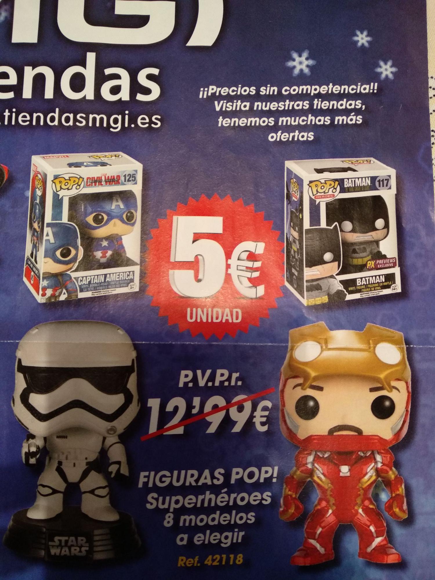 Funko Pops 5€ (En TIENDAS MGI)