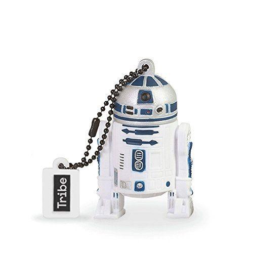 Tribe Disney Star Wars R2F2 - Memoria USB 2.0 de 16 GB Pendrive Flash Drive de goma con llavero