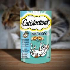 Snacks para gatos Catisfactions Stop Bolas de Pelo 55 grs en Primaprix