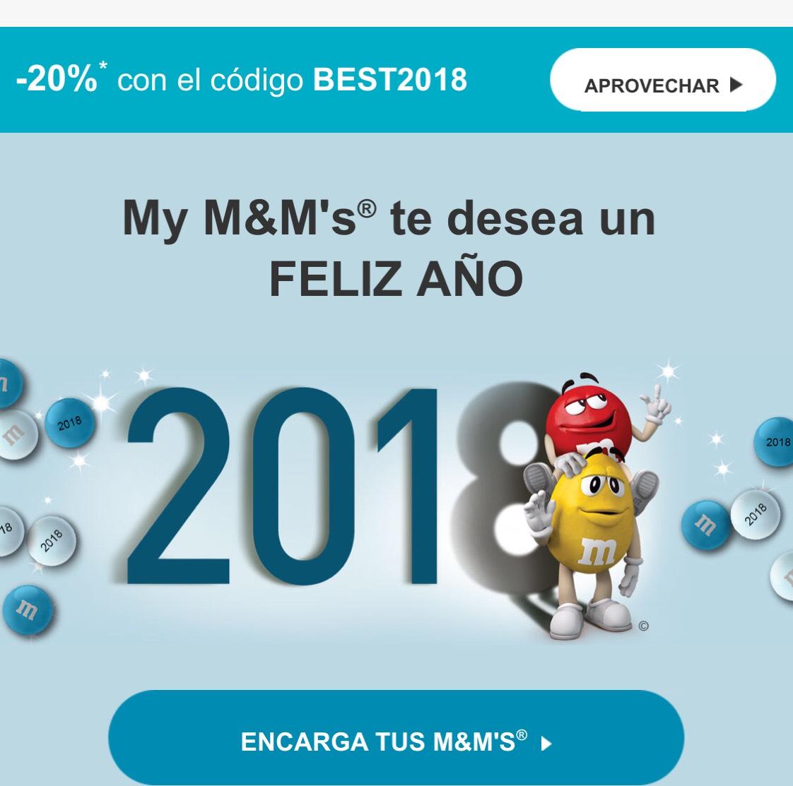 20% M&M'S