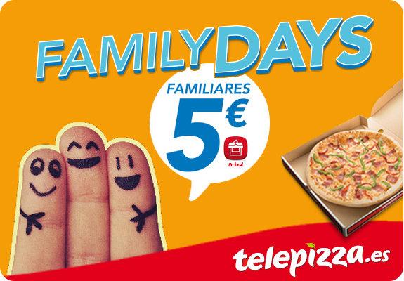 Pizzas familiares telepizza por 5€