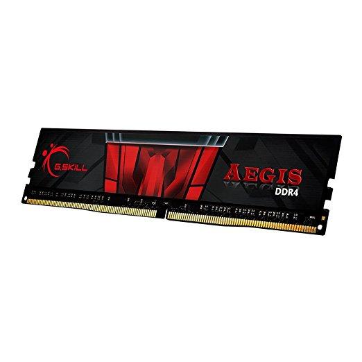 G.Skill Aegis 8GB DDR4 3000MHz módulo de Memoria (8 GB, 1 x 8 GB, DDR4, 3000 MHz, 288-pin DIMM, Negro