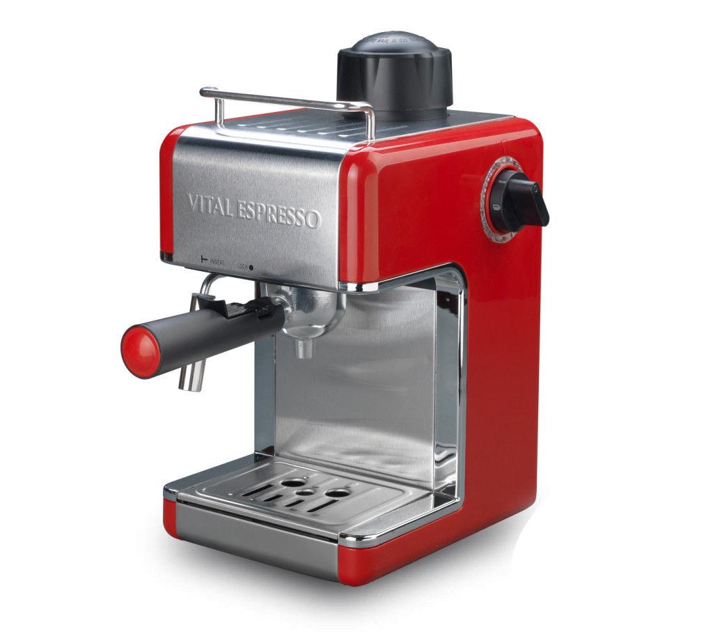 Cafetera Vital Espresso con Emulsión de Leche 4 Tazas 800W 3,5 Bar