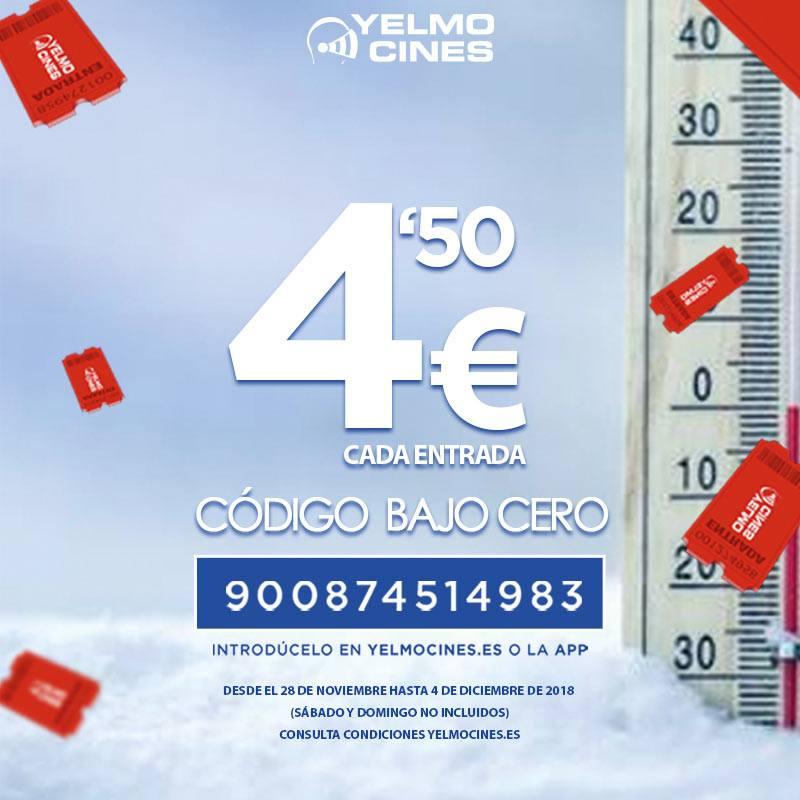 Entradas de Yelmo Cines a 4,50€