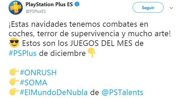 Juegos Playstation Plus diciembre 2018