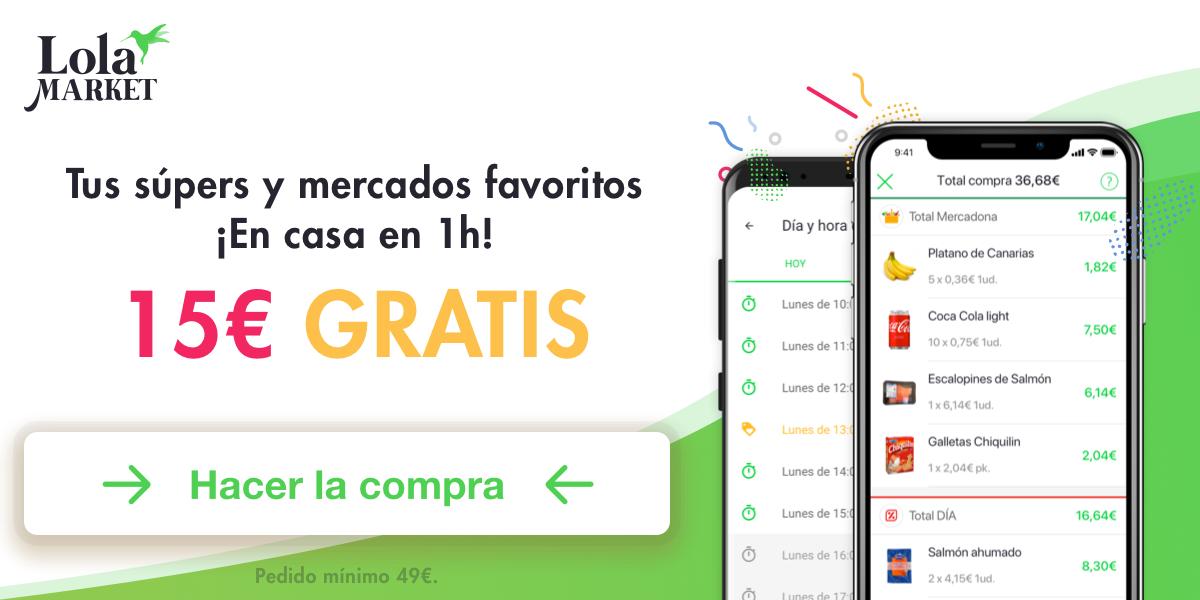 35€ gratis en Lola Market con Bnext