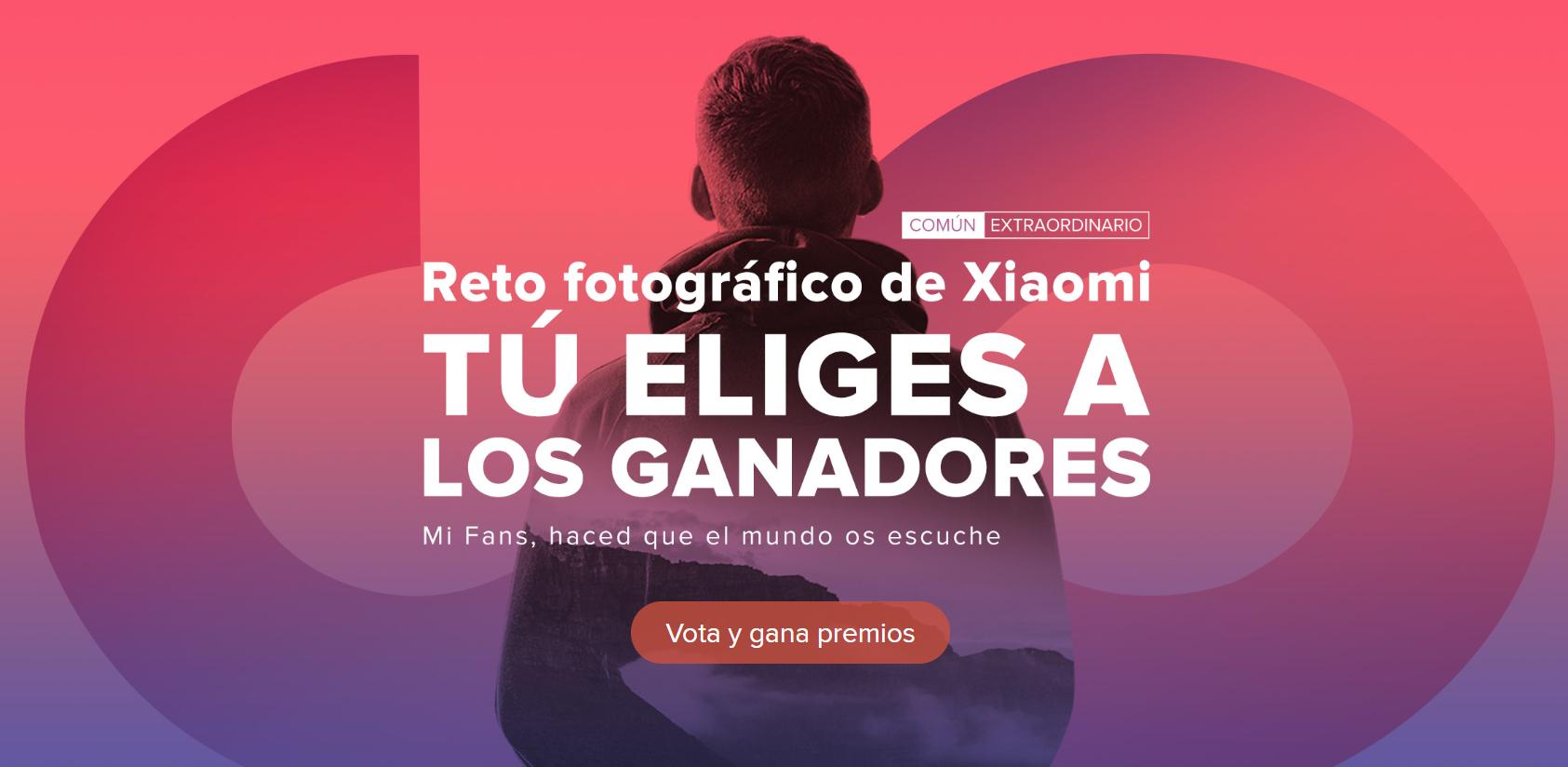 Gana cheques votando en el Reto Fotográfico de Xiaomi.