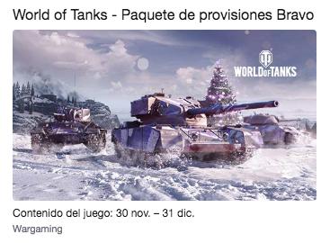 Twitch Prime World of Tanks - Paquete de provisiones Bravo