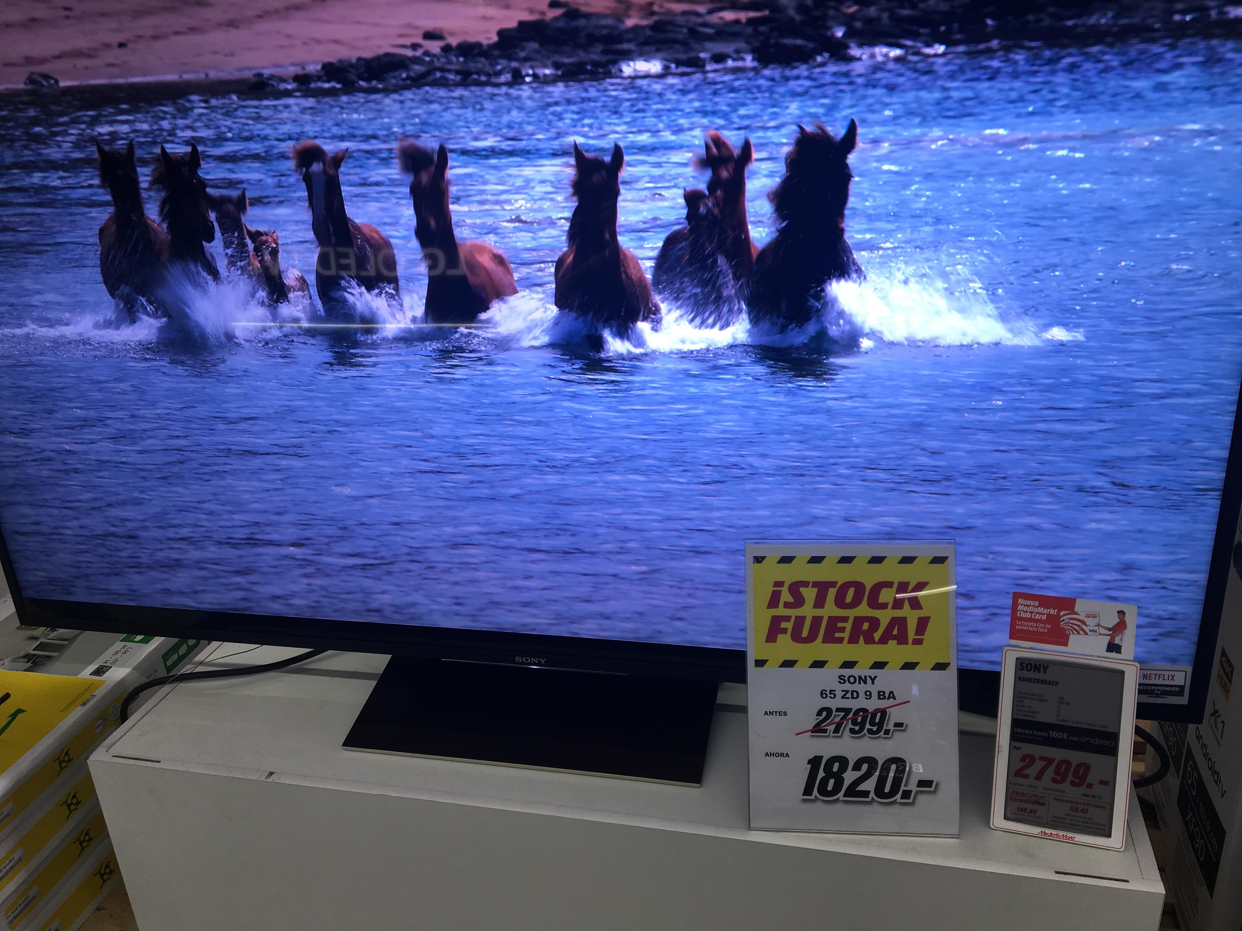 """Tv Sony 65"""" ZD 9 BA (Media Markt Parquesur)"""
