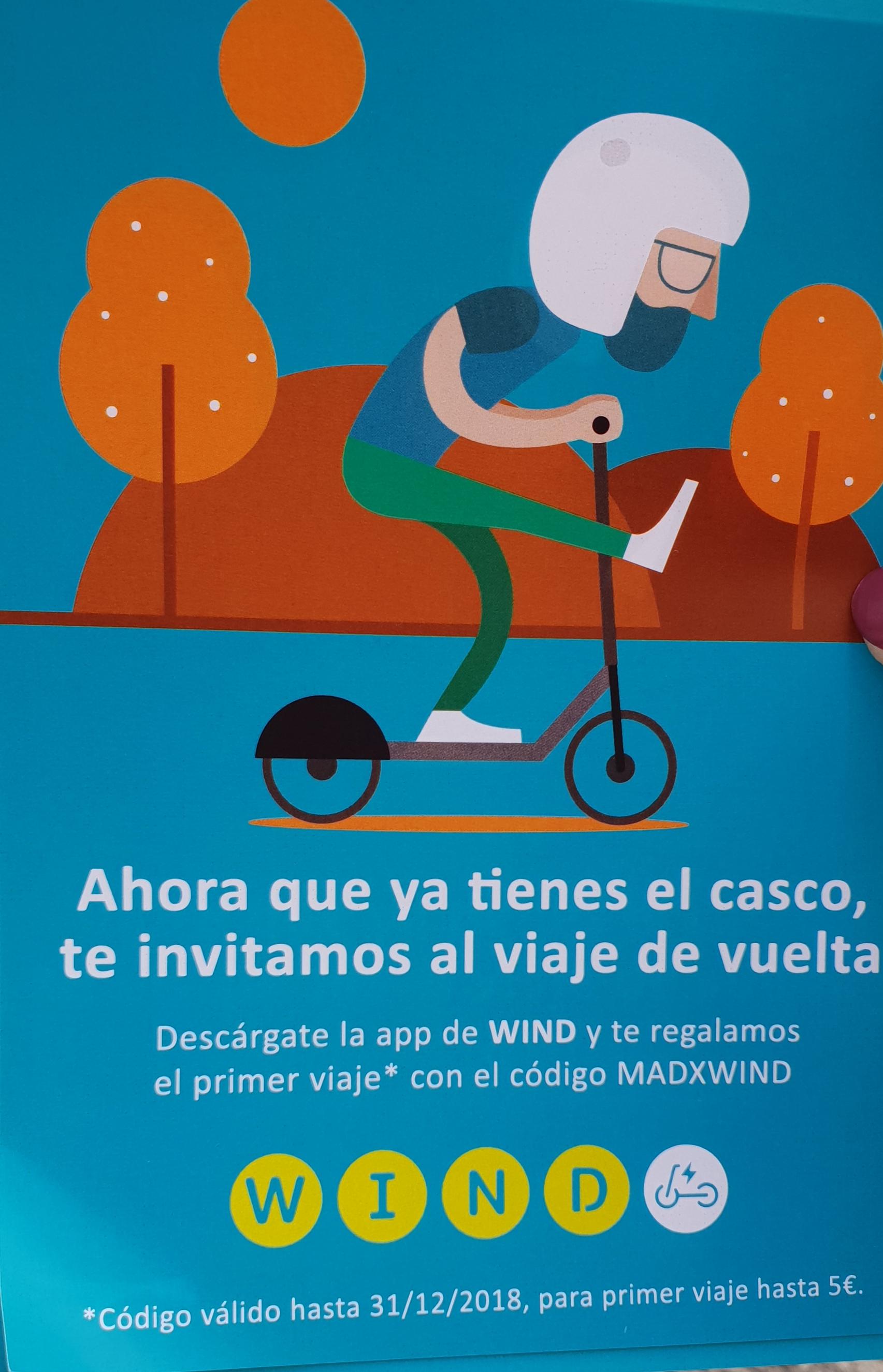 WIND | Código: MADXWIND | Primer viaje o Cupón de hasta 5€ Gratis