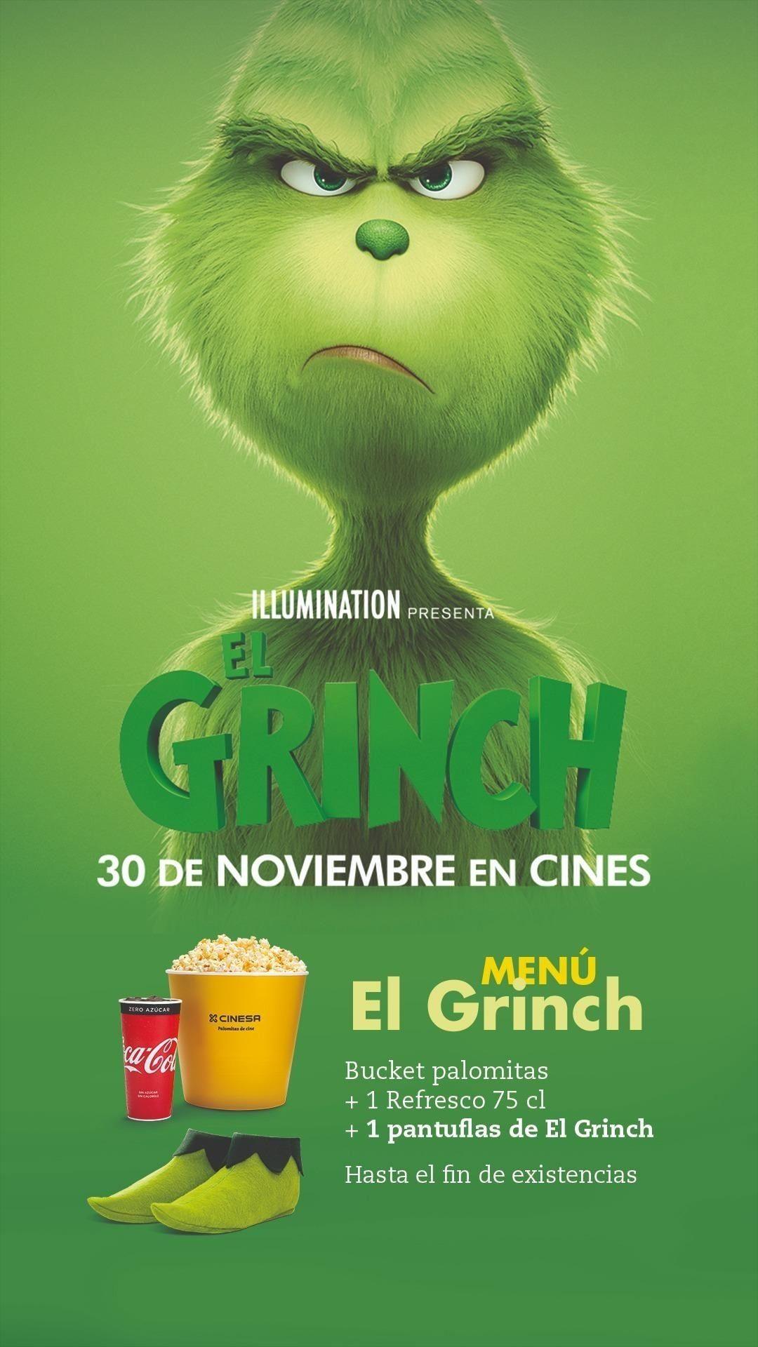 Pegatinas gratis del Grinch con tu entrada para la nueva película!