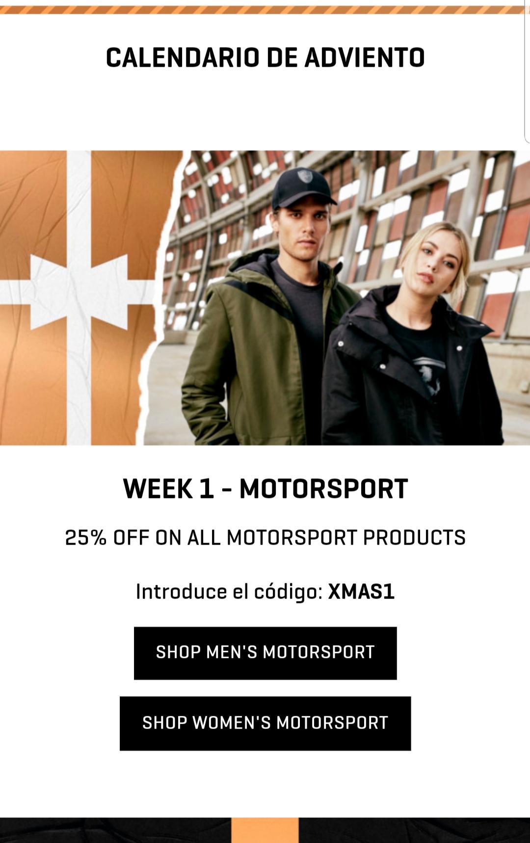 25% en MOTORSPORT - PUMA
