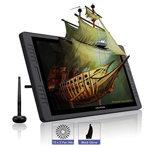 HUION KAMVAS Pro 22 Tableta Grafica con Pantalla Libre de Batería lápiz Display con 10 Teclas de Prensa Personalizados y un Toque Bar ...
