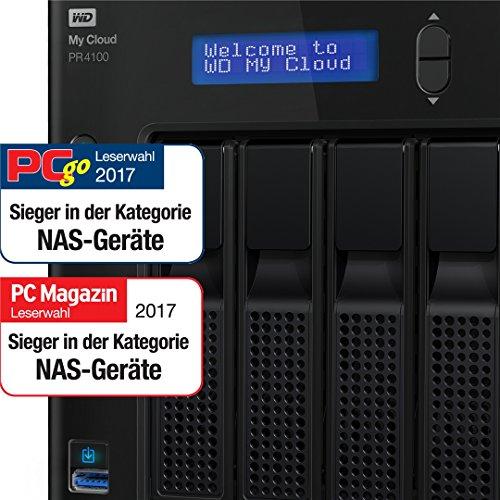 WD My Cloud Pro Series PR4100 - Almacenamiento en Red de 8 TB y Servidor Multimedia con transcodificación