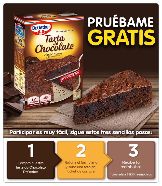 Prueba gratis la tarta de chocolate Dr. Oetker