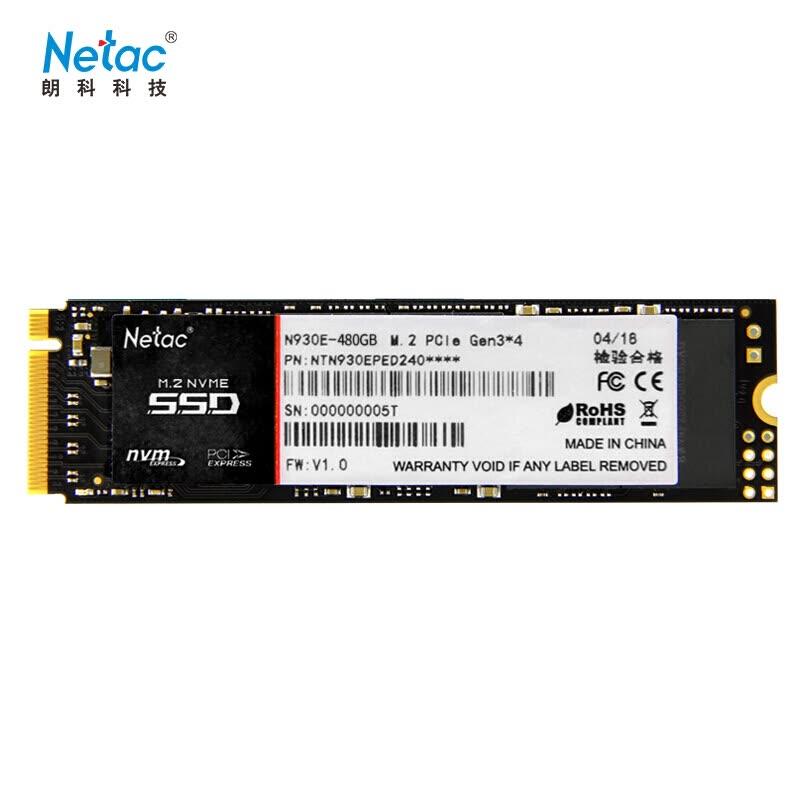 Netac N930E 480GB M.2 NVMe solo 62.3€