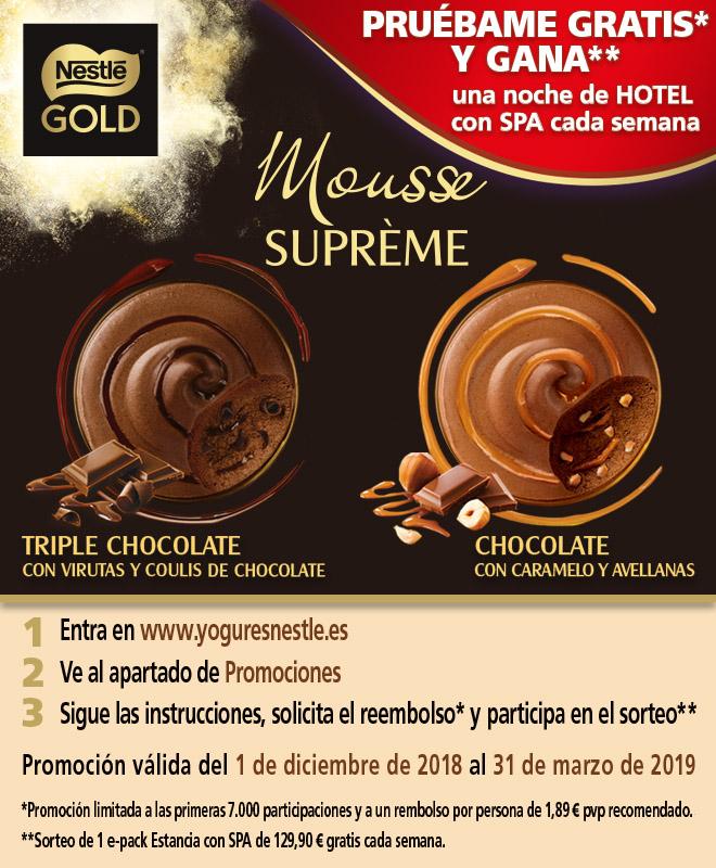 Prueba gratis Nestlé Gold Mousses Suprème  [Reembolso]