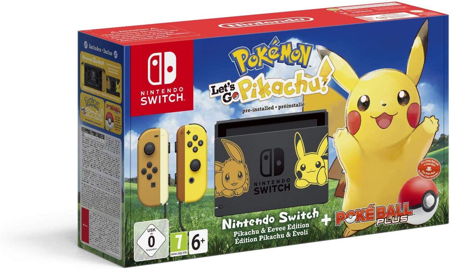 Nintendo Switch: Edición Pokémon + Let's Go Pikachu + Poké Ball Plus (Ed. Limitada)
