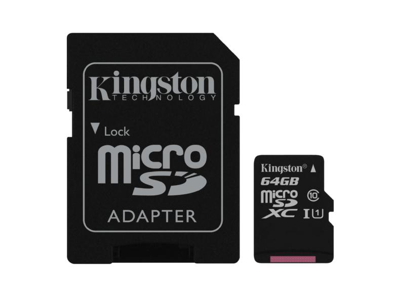 Tarjeta MicroSD de 64GB - Kingston Technology Canvas Select