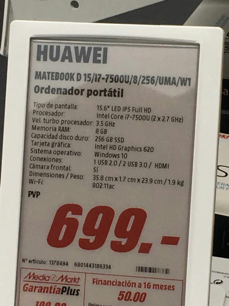 Portatil Huawei MateBook D