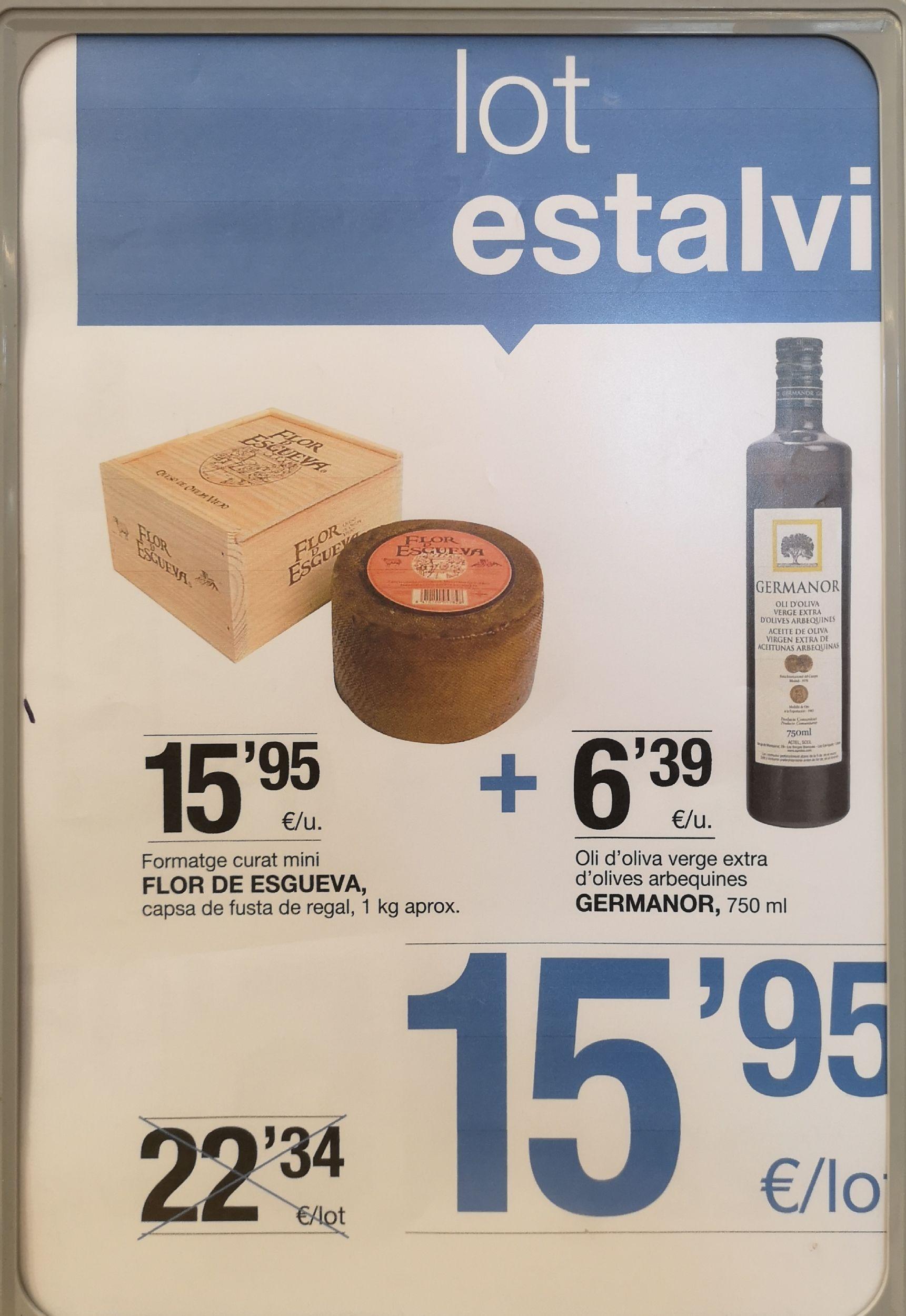 Queso Flor de Esgueva +  750ml aceite oliva