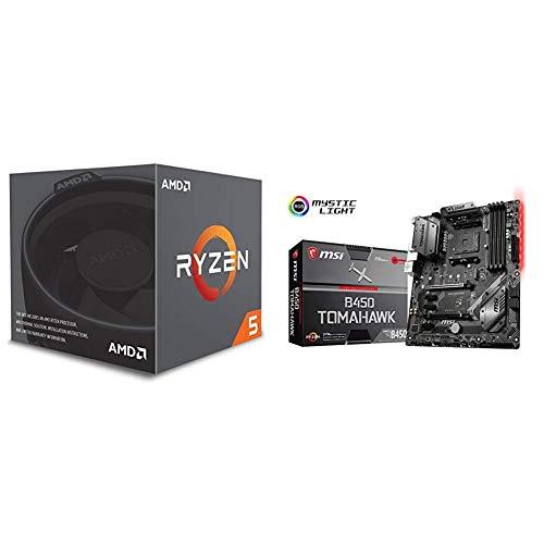 AMD Ryzen 5 2600X + Placa base MSI B450 Tomahawk ATX