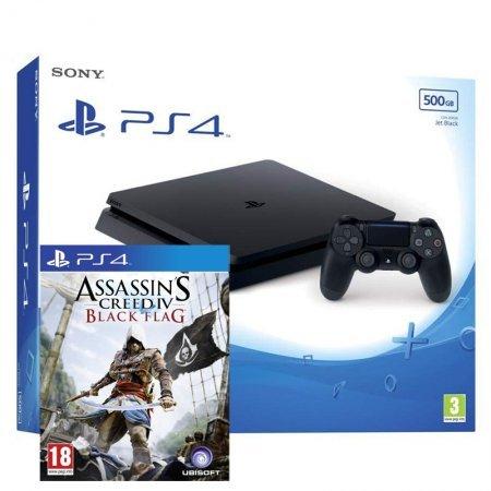 Sony PlayStation 4 Slim 500GB Negra + Assassin's Creed IV