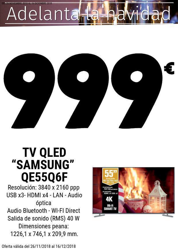 TV Samsung Qled QE55Q6F UHD 4K (Leclerc Salamanca)