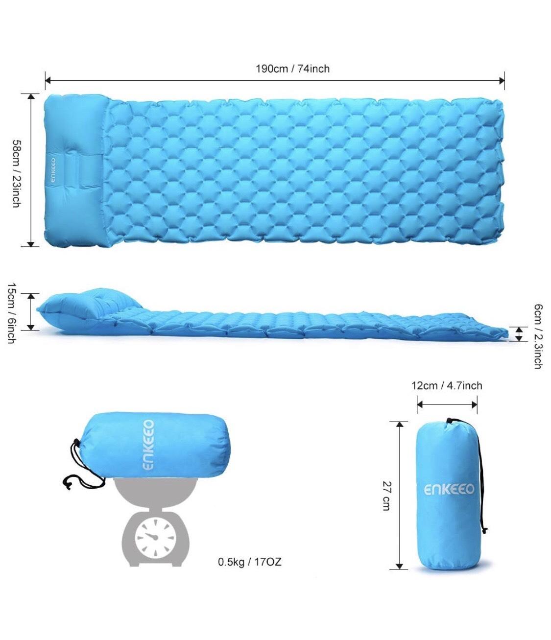 Esterilla inflable con capacidad 150kg por 9,99€