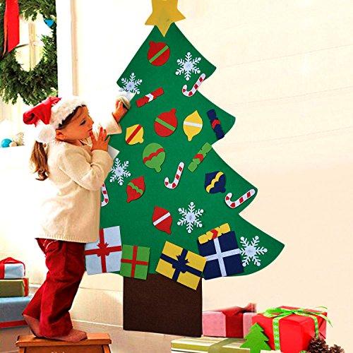Árbol de Navidad en Fieltro, 28 adornos