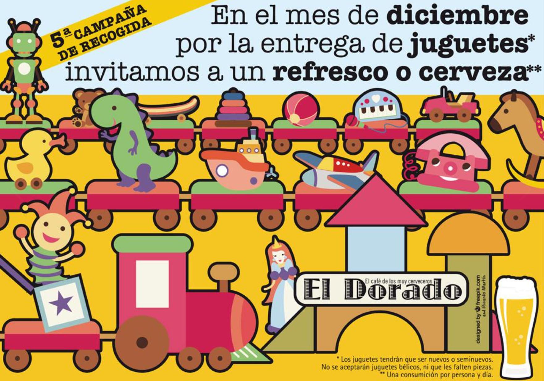 "LOGROÑO: Café Bar ""ELDORADO"" - Refresco o Cerveza gratis por la entrega de un juguete en diciembre"
