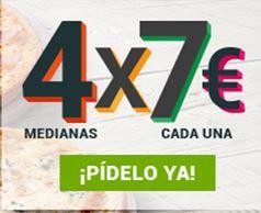 4 X 7€ cada una --- Telepizza