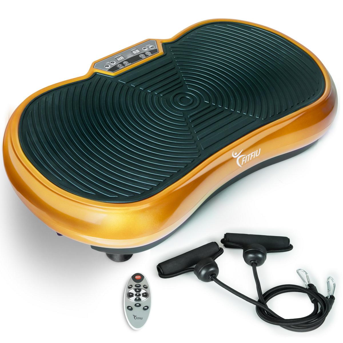 Plataforma vibratoria oscilante 400w con cuerdas elasticas y 9 programas -FITFIU
