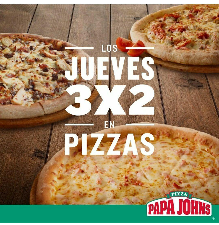 Jueves 3x2 en Papa Johns