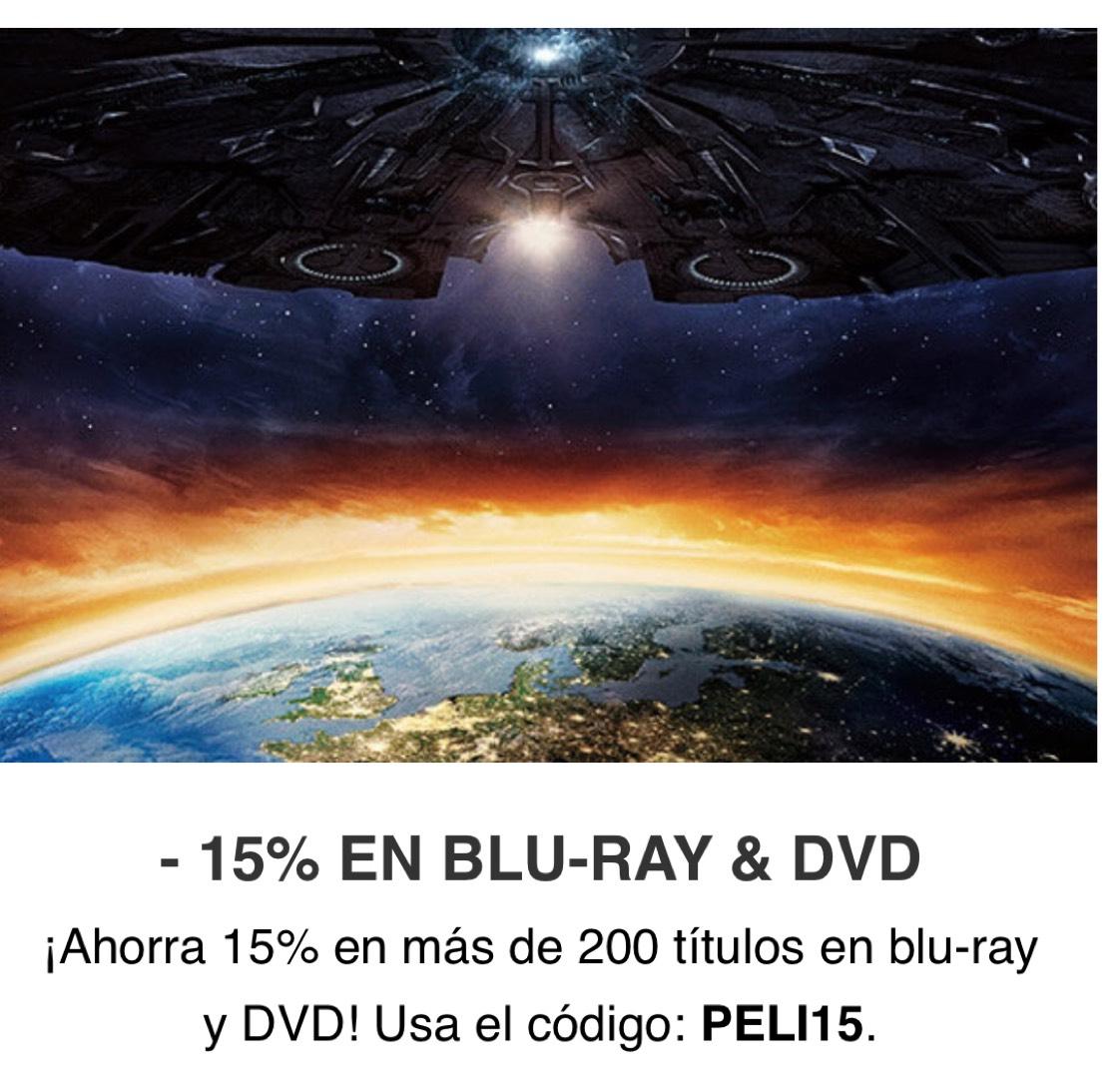 15% EN BLU-RAY Y DVD