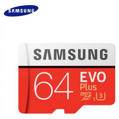 Tarjeta de memoria Micro SDXC original UHS-3 64GB de Samsung  -  64GB